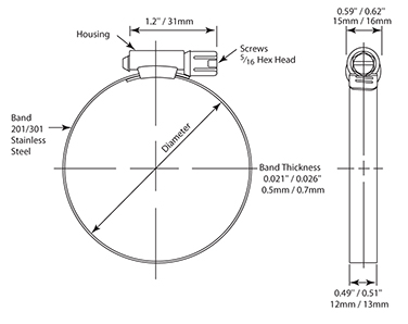 BC01280-7 CLAMP - HOSE 1 1/4 - 2 1/4 IN thumbnail image